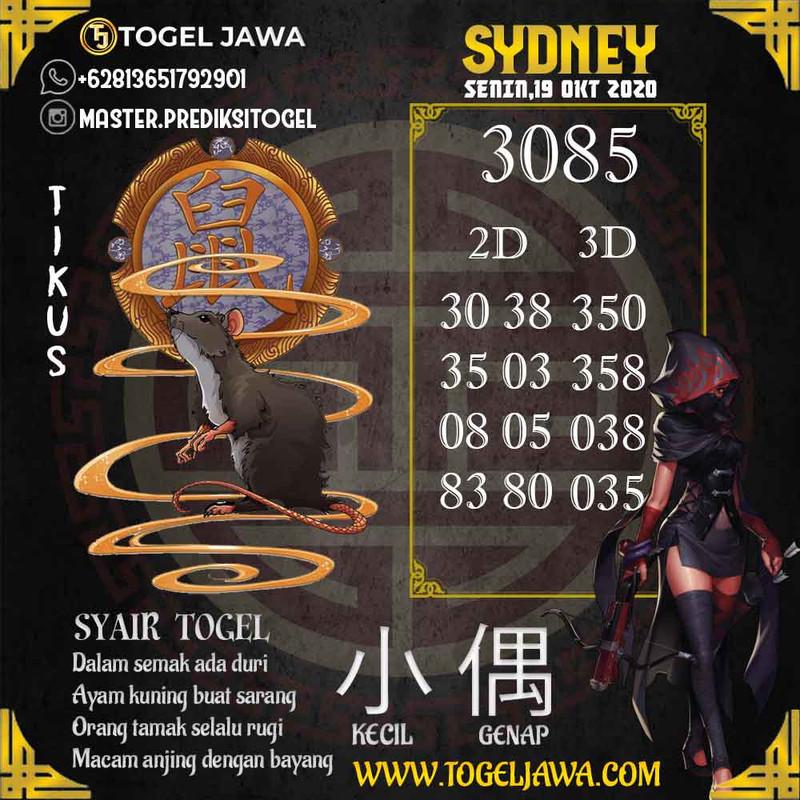 Prediksi Sydney Tanggal 2020-10-19