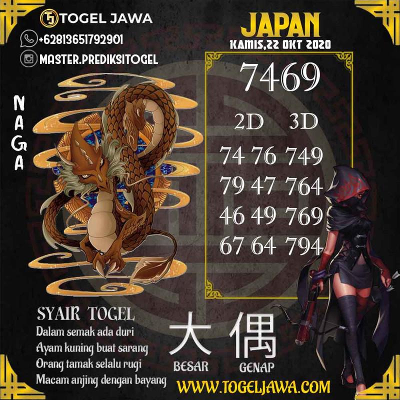 Prediksi Japan Tanggal 2020-10-22