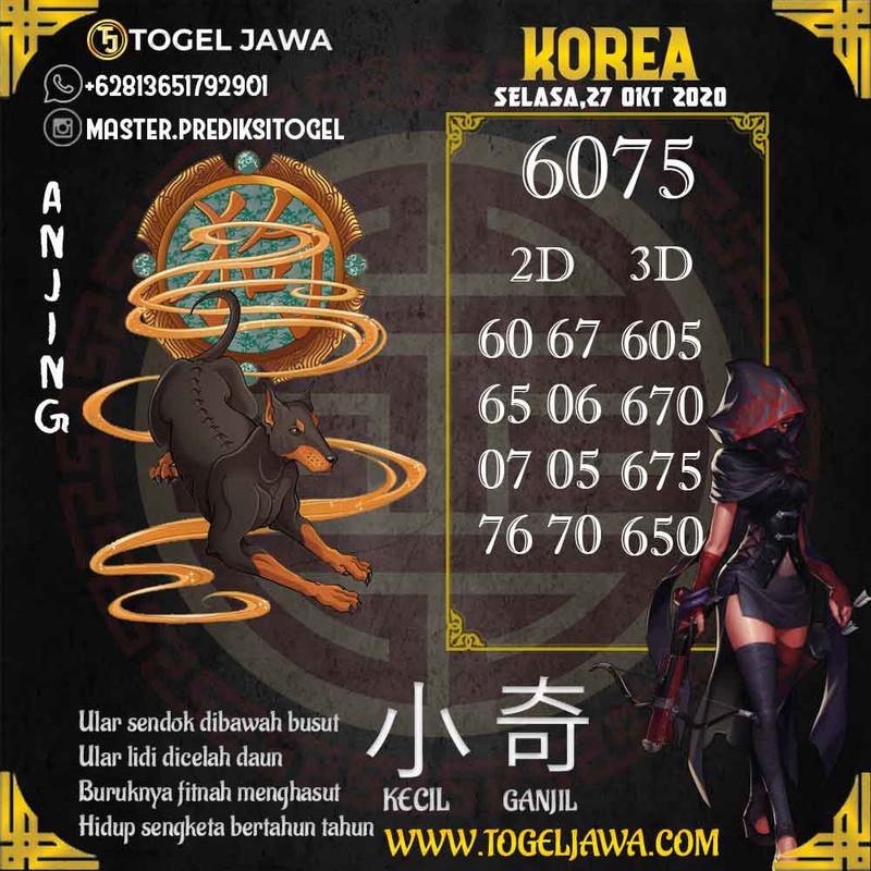 Prediksi Korea Tanggal 2020-10-27