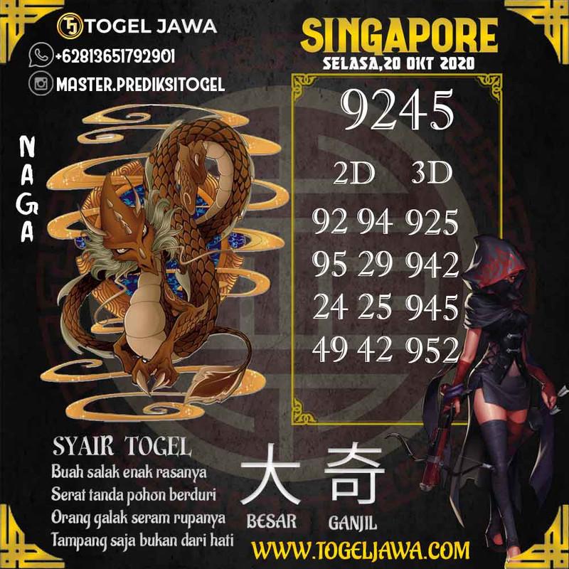 Prediksi Singapore Tanggal 2020-10-20