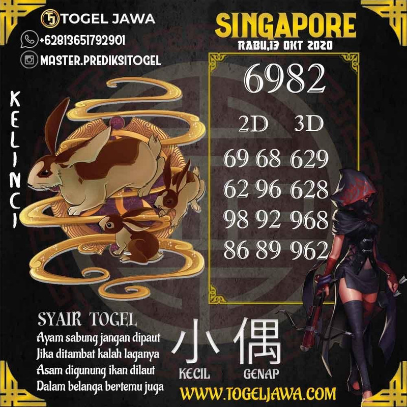 Prediksi Singapore Tanggal 2020-10-13