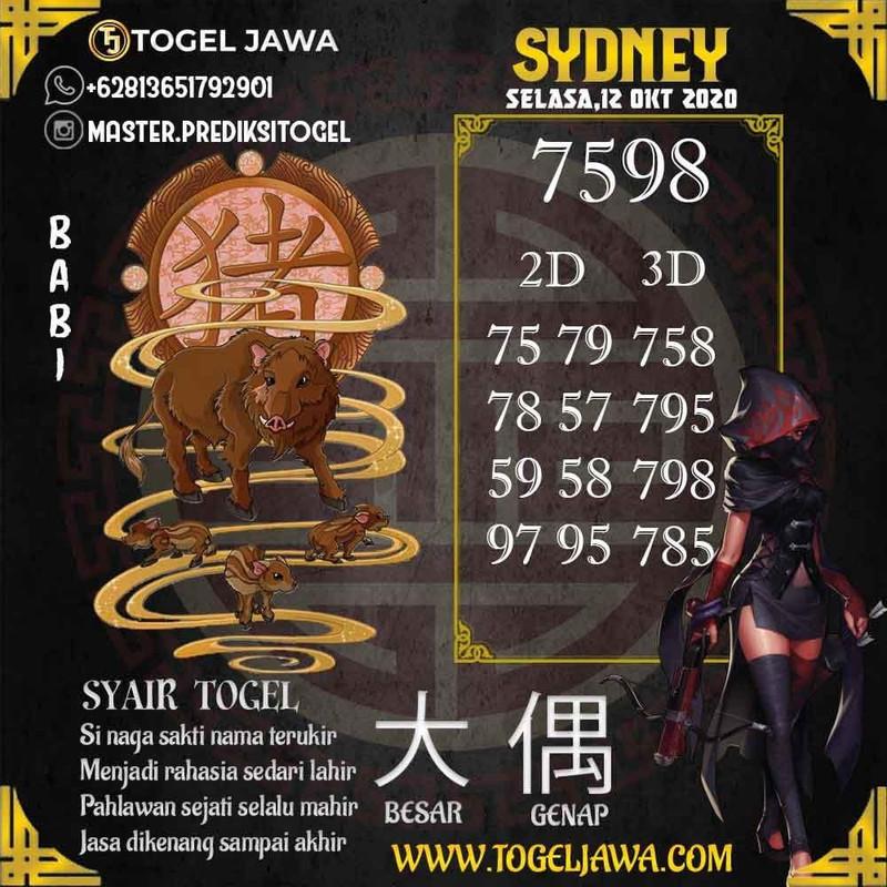Prediksi Sydney Tanggal 2020-10-12