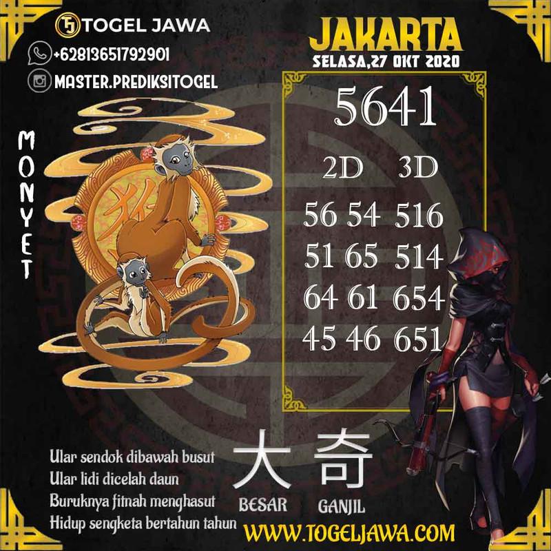 Prediksi Jakarta Tanggal 2020-10-27