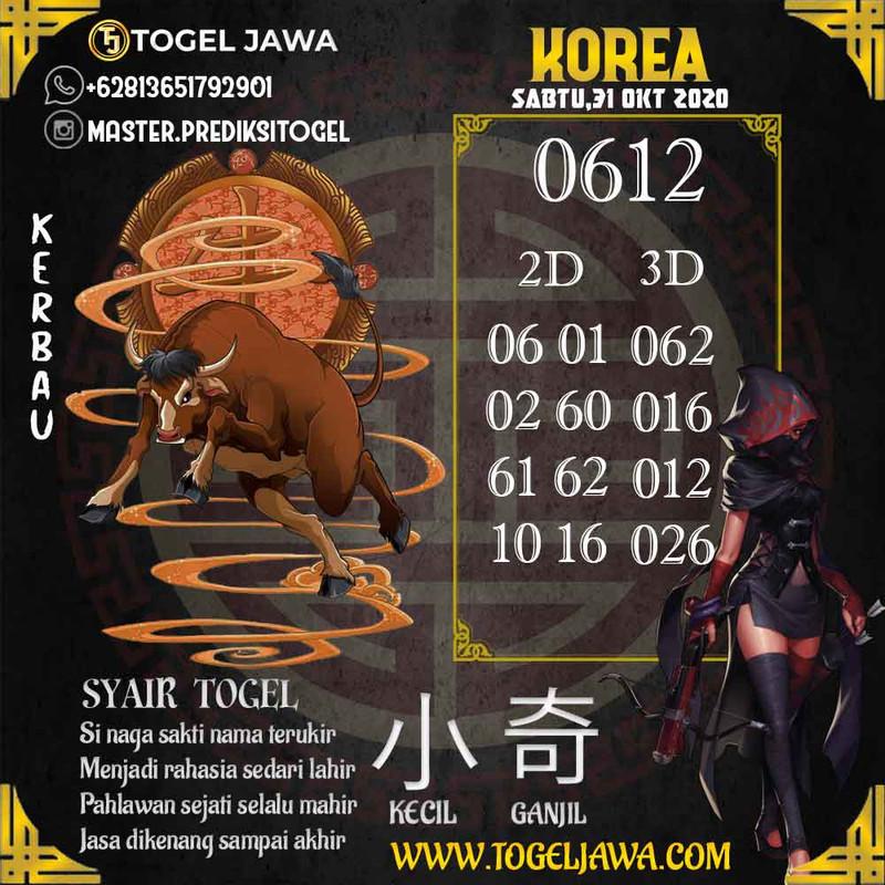 Prediksi Korea Tanggal 2020-10-31