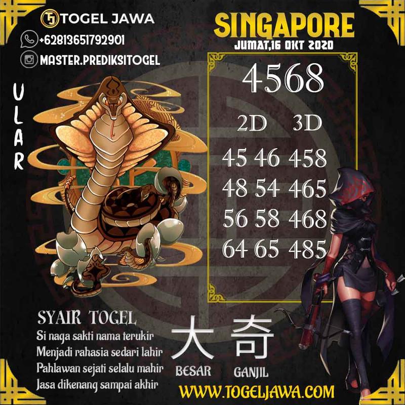 Prediksi Singapore Tanggal 2020-10-16