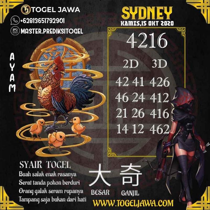 Prediksi Sydney Tanggal 2020-10-15