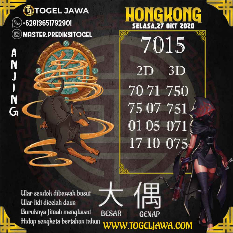 Prediksi Hongkong Tanggal 2020-10-27