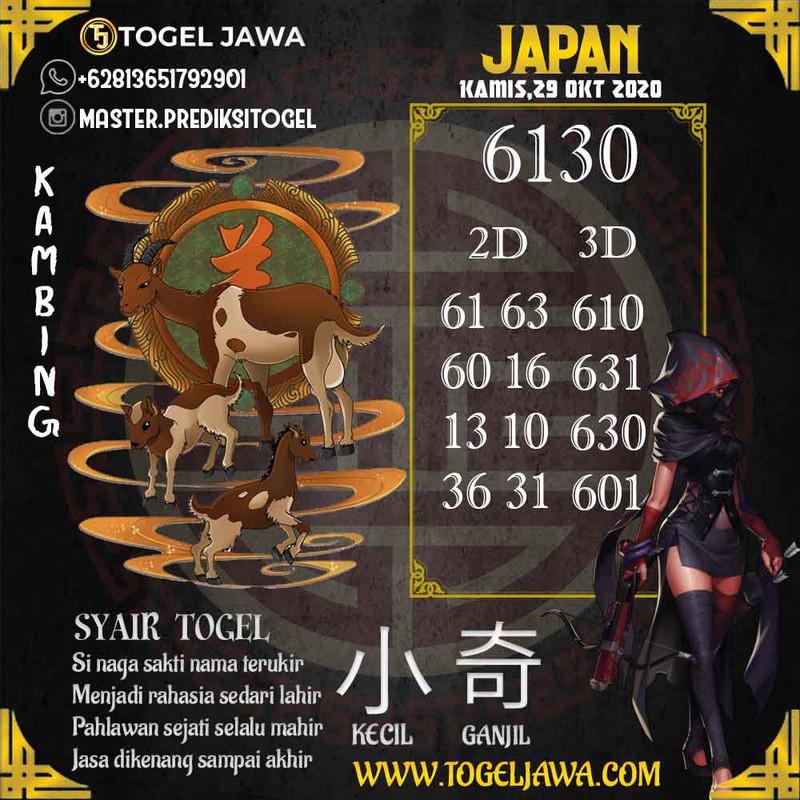 Prediksi Japan Tanggal 2020-10-29