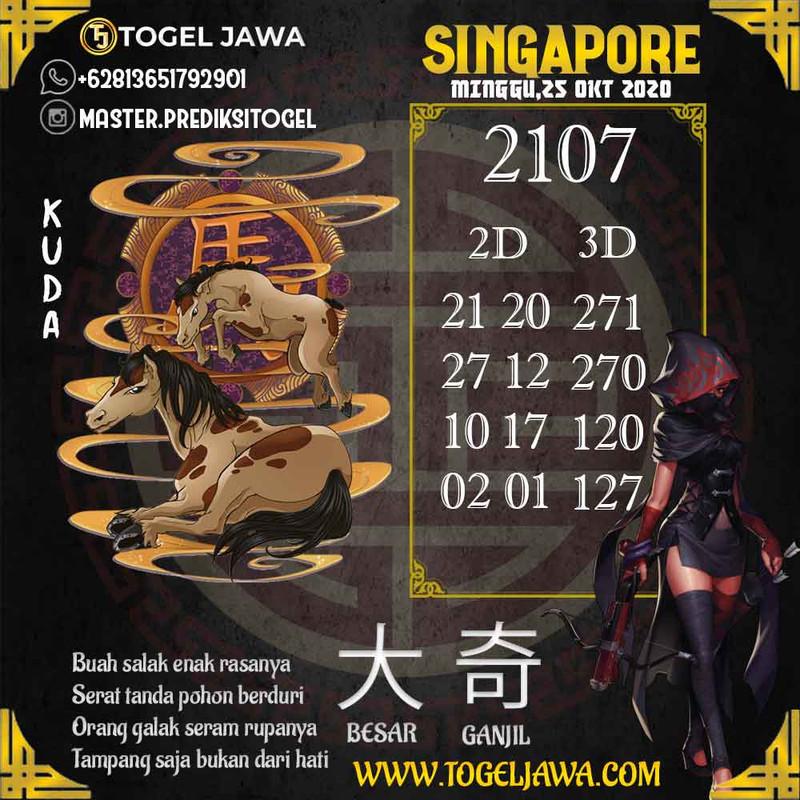 Prediksi Singapore Tanggal 2020-10-25