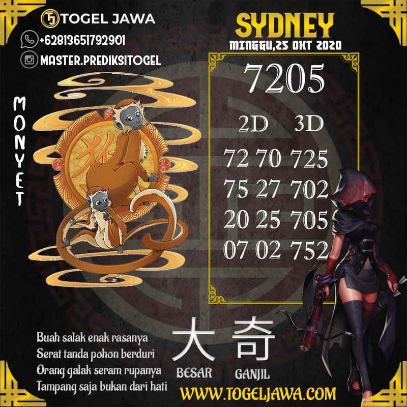 Prediksi Sydney Tanggal 2020-10-25