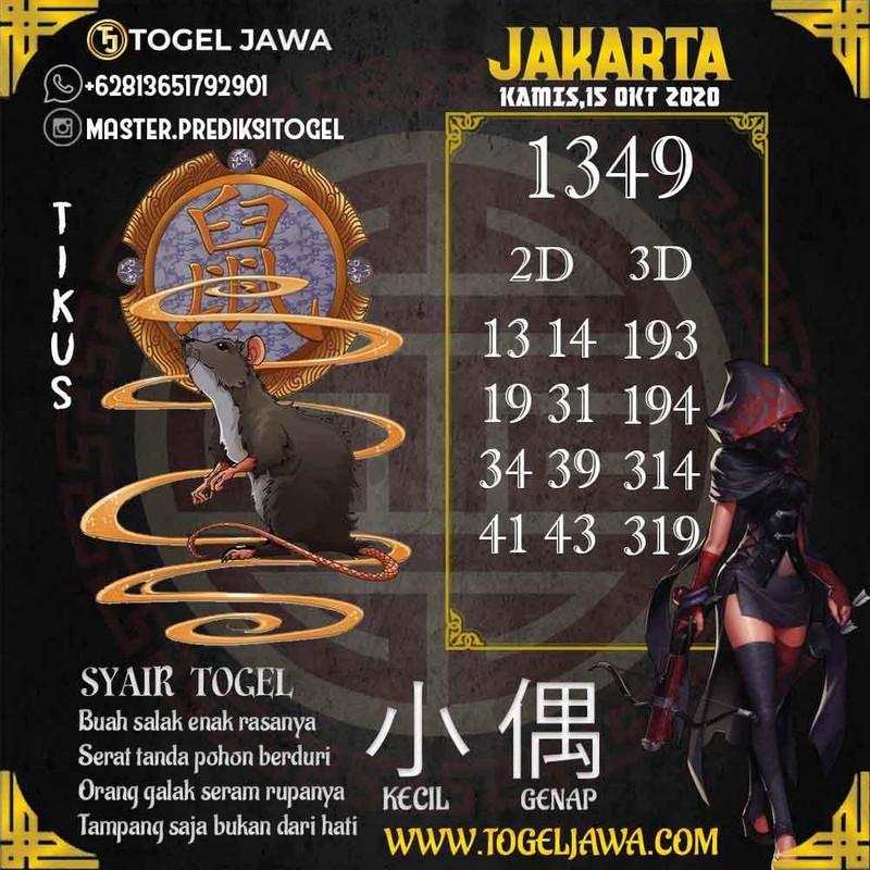 Prediksi Jakarta Tanggal 2020-10-15