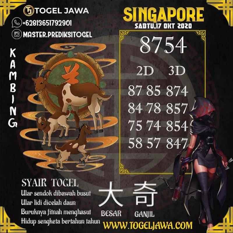Prediksi Singapore Tanggal 2020-10-17