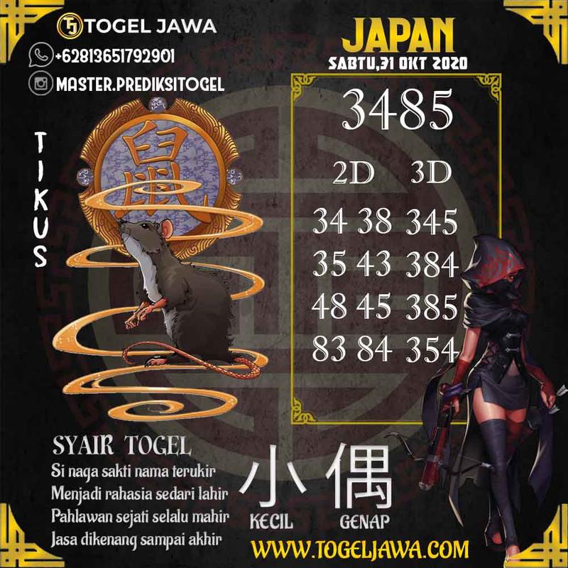 Prediksi Japan Tanggal 2020-10-31