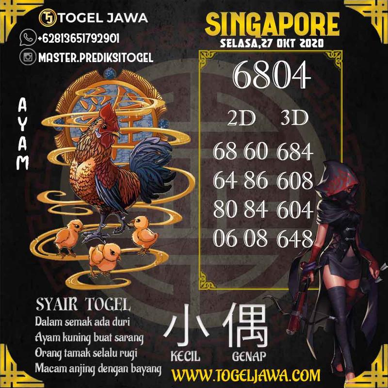 Prediksi Singapore Tanggal 2020-10-27