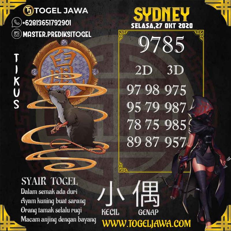 Prediksi Sydney Tanggal 2020-10-27