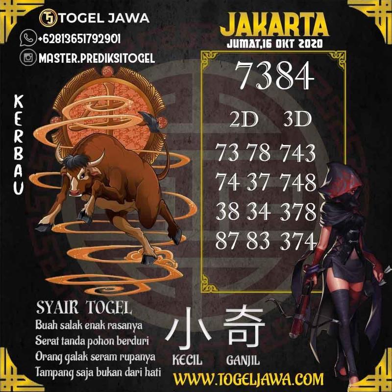 Prediksi Jakarta Tanggal 2020-10-16