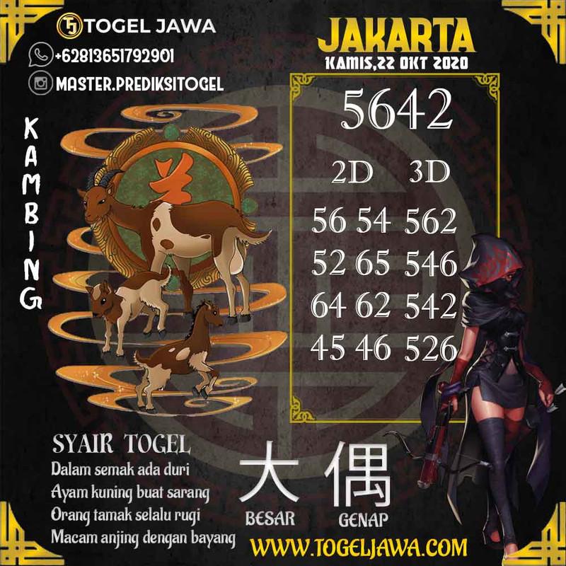Prediksi Jakarta Tanggal 2020-10-22