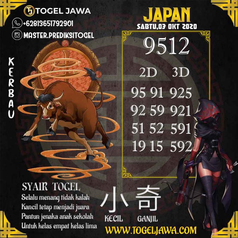 Prediksi Japan Tanggal 2020-10-03