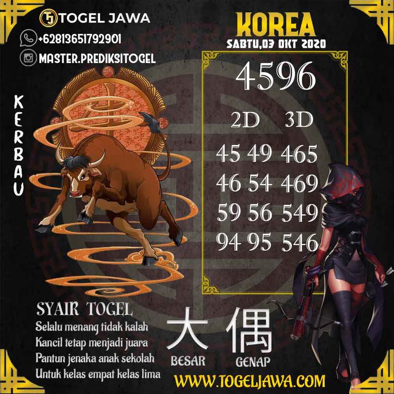Prediksi Korea Tanggal 2020-10-03