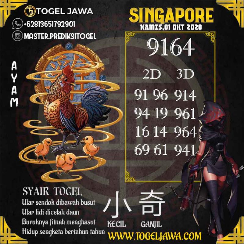 Prediksi Singapore Tanggal 2020-10-01