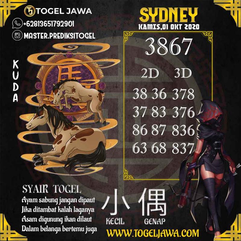 Prediksi Sydney Tanggal 2020-10-01