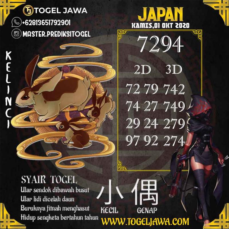 Prediksi Japan Tanggal 2020-10-01