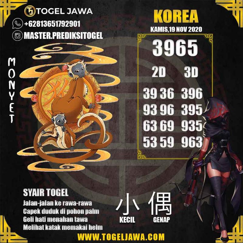 Prediksi Korea Tanggal 2020-11-19