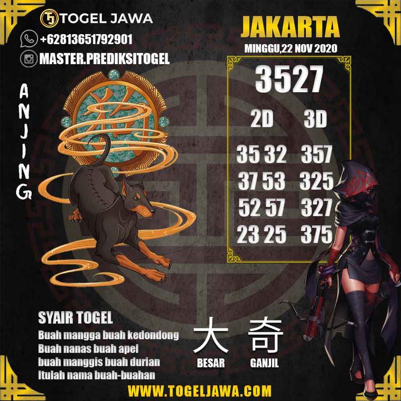 Prediksi Jakarta Tanggal 2020-11-22