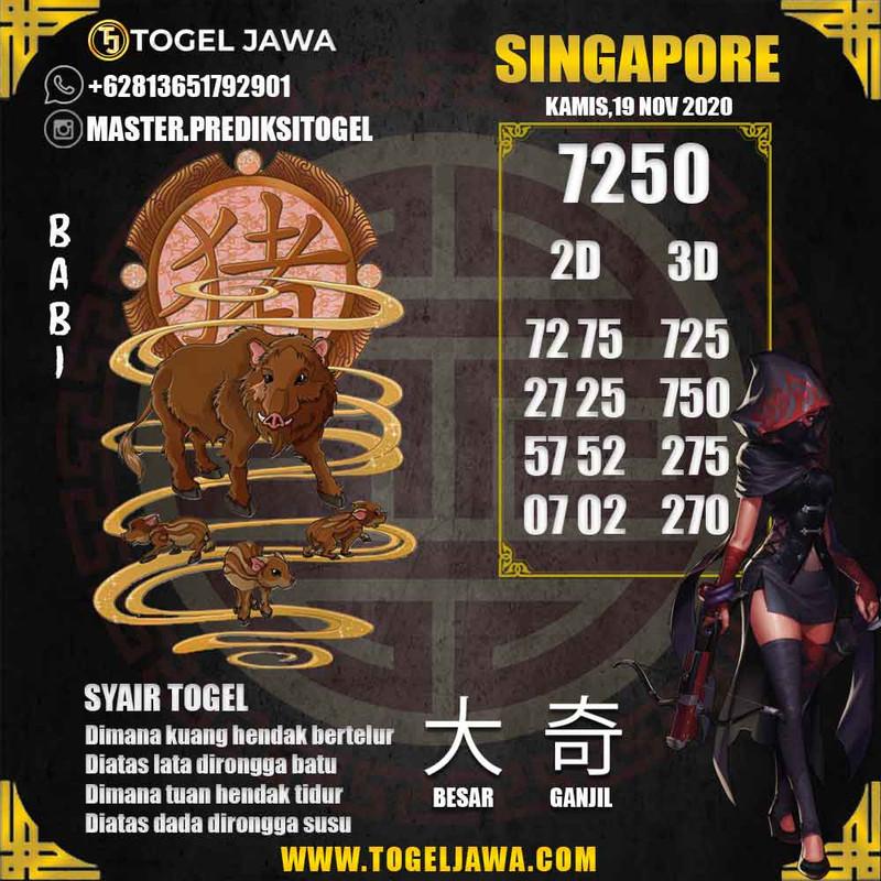 Prediksi Singapore Tanggal 2020-11-19