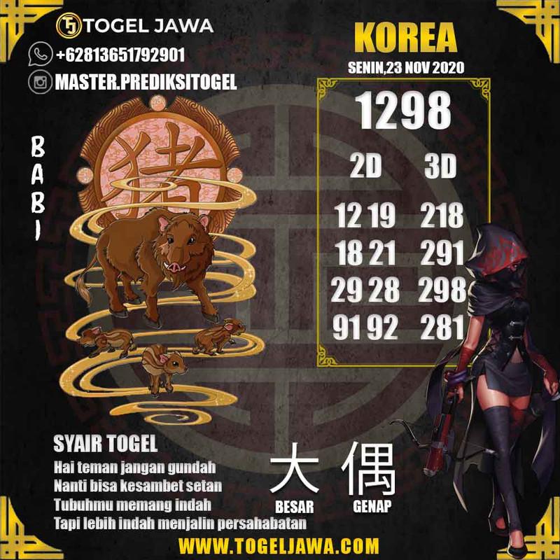 Prediksi Korea Tanggal 2020-11-23