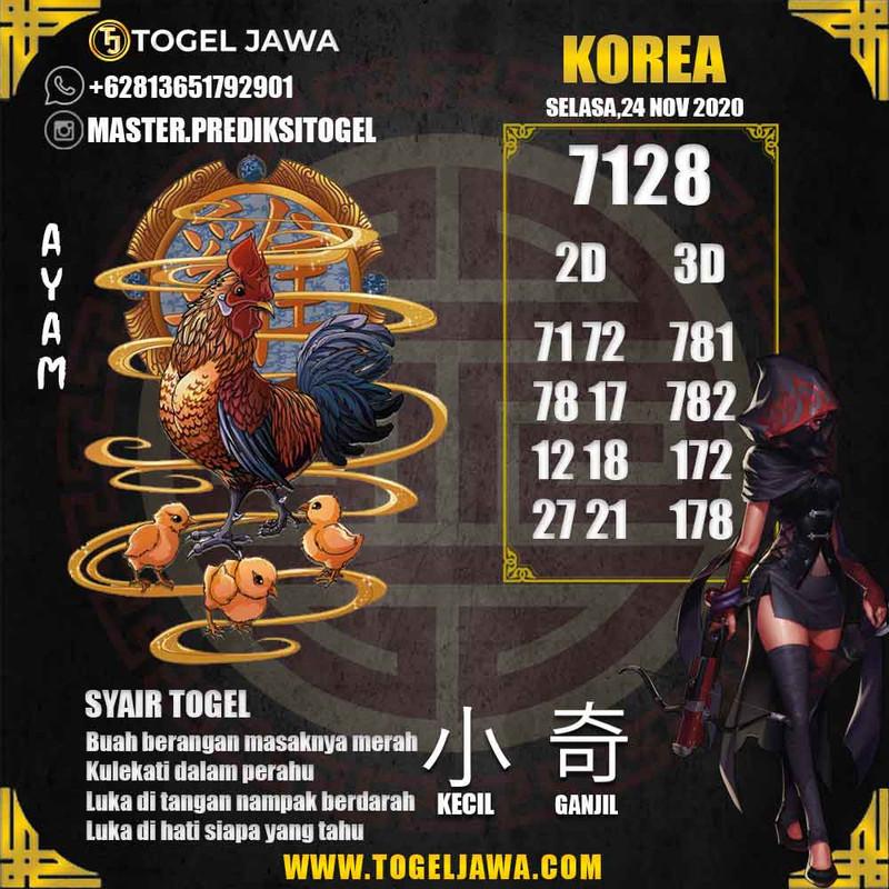 Prediksi Korea Tanggal 2020-11-24