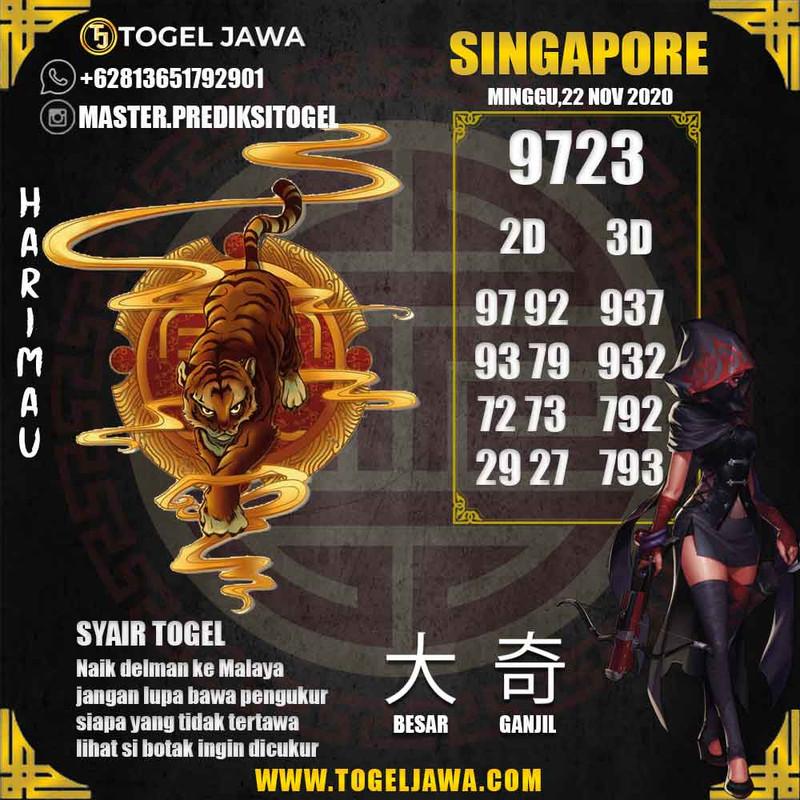 Prediksi Singapore Tanggal 2020-11-22