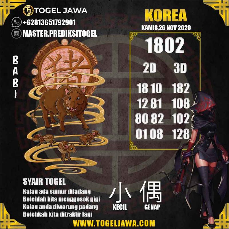 Prediksi Korea Tanggal 2020-11-26