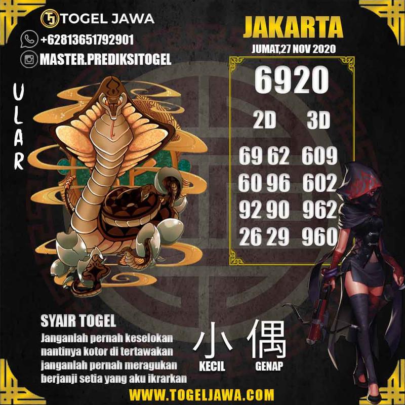 Prediksi Jakarta Tanggal 2020-11-27