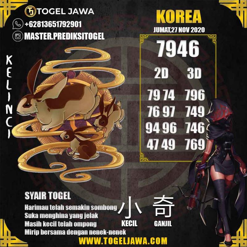 Prediksi Korea Tanggal 2020-11-27