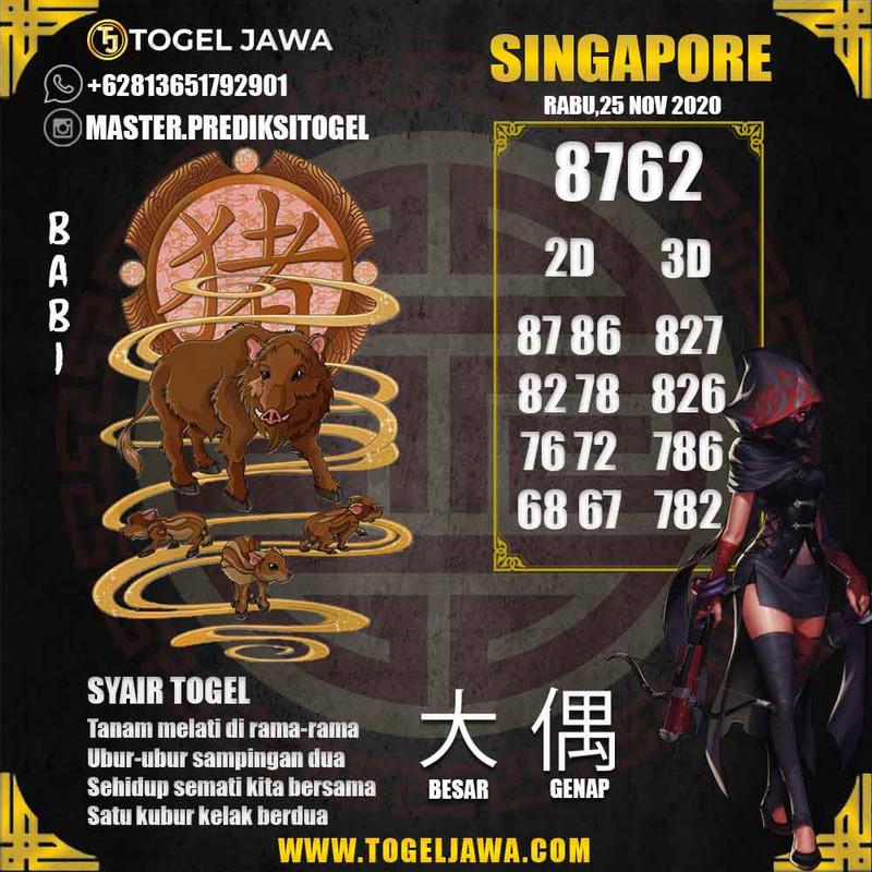 Prediksi Singapore Tanggal 2020-11-25