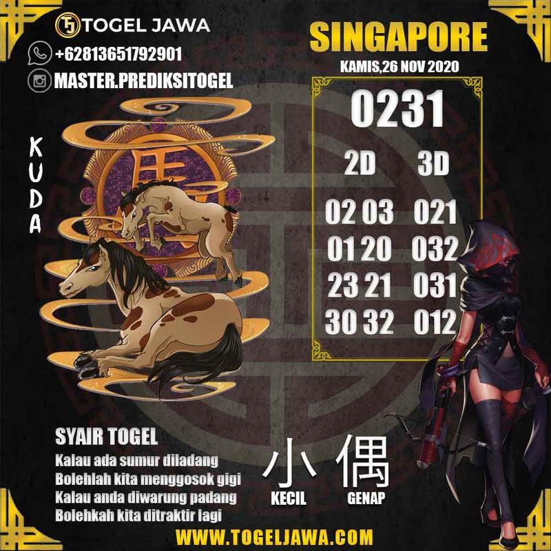 Prediksi Singapore Tanggal 2020-11-26