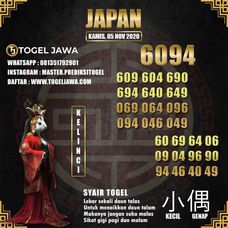 Prediksi Japan Tanggal 2020-11-05