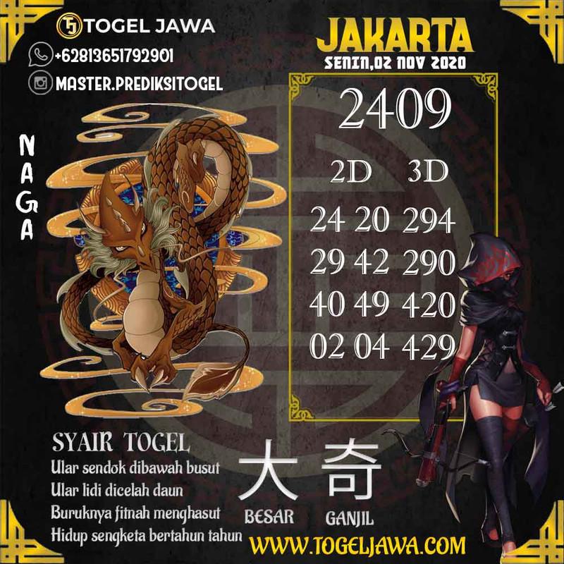 Prediksi Jakarta Tanggal 2020-11-02
