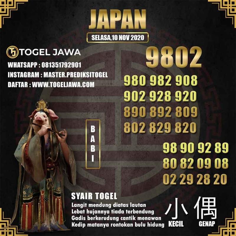 Prediksi Japan Tanggal 2020-11-10