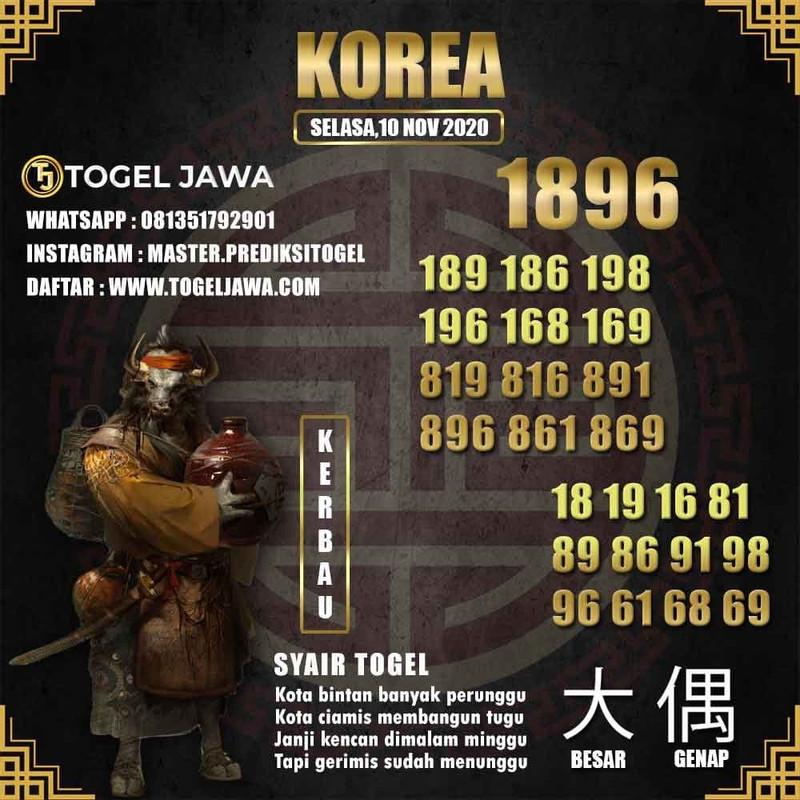 Prediksi Korea Tanggal 2020-11-10