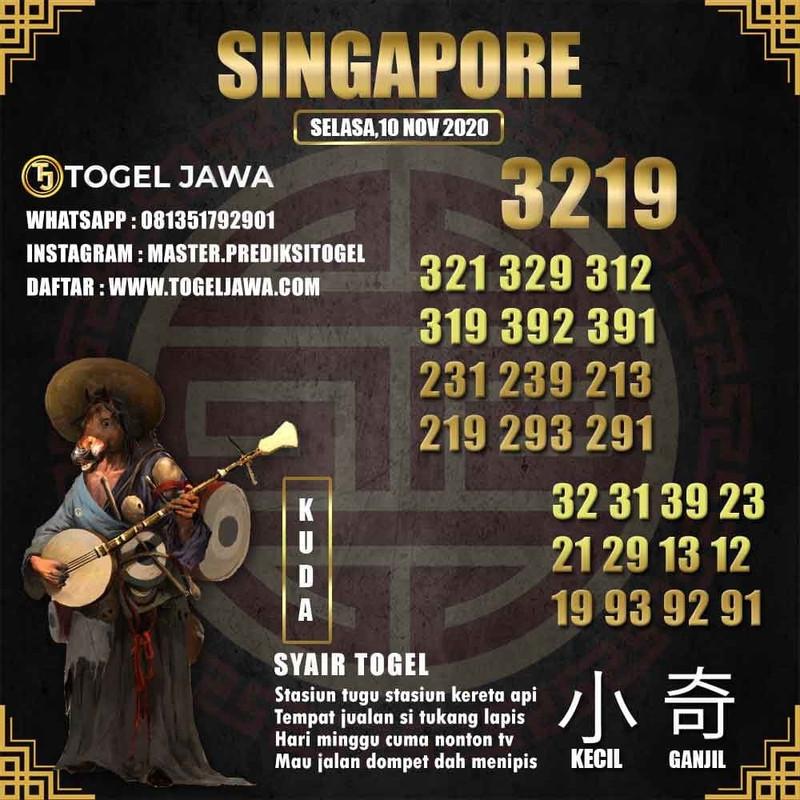 Prediksi Singapore Tanggal 2020-11-10