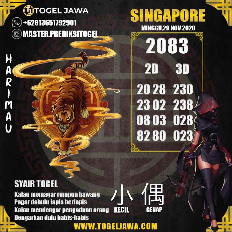 Prediksi Singapore Tanggal 2020-11-29
