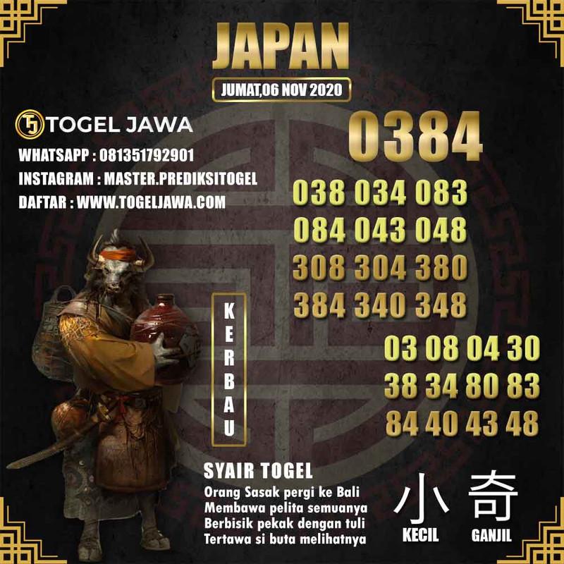 Prediksi Japan Tanggal 2020-11-06