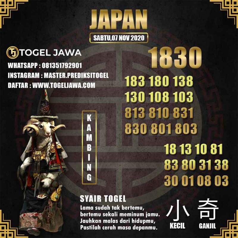 Prediksi Japan Tanggal 2020-11-07