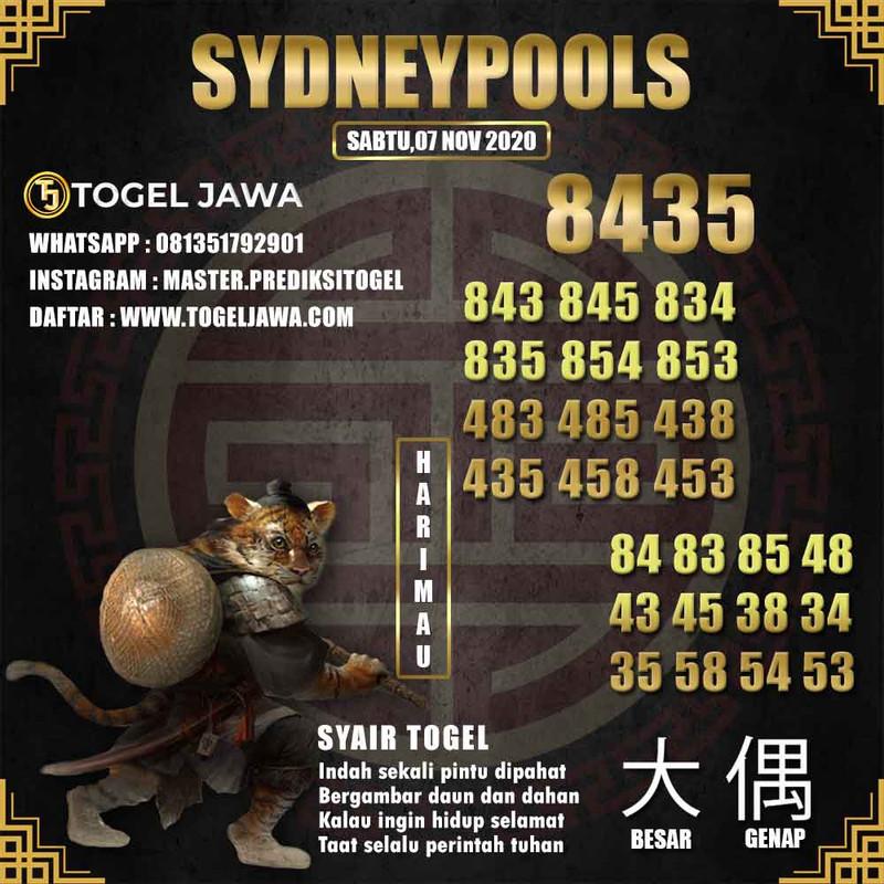 Prediksi Sydney Tanggal 2020-11-07