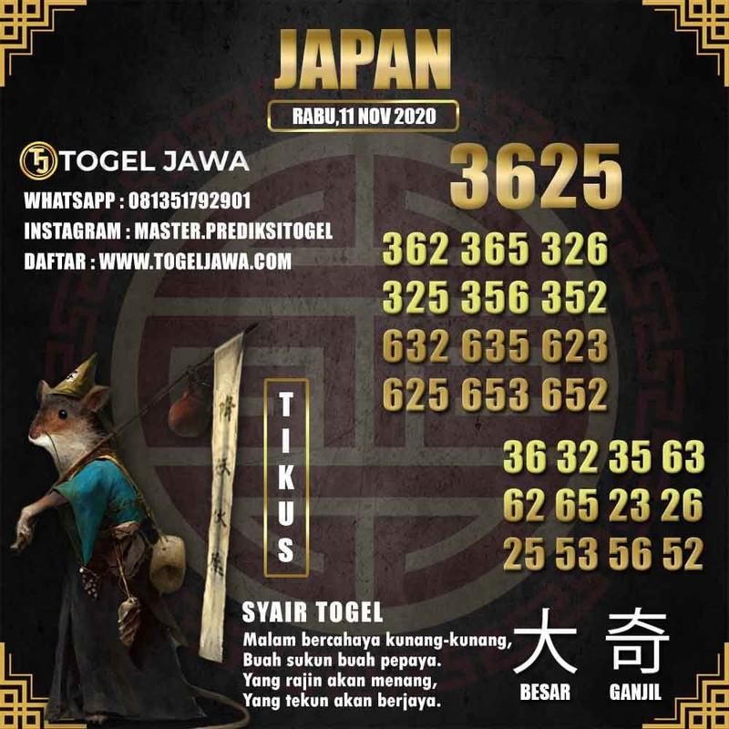 Prediksi Japan Tanggal 2020-11-11