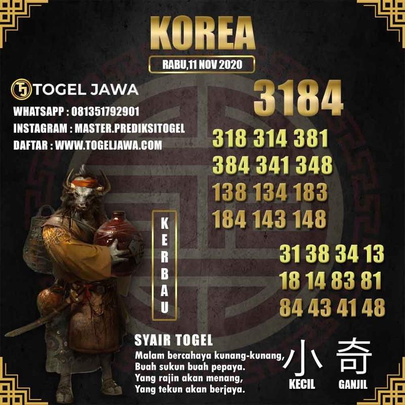 Prediksi Korea Tanggal 2020-11-11