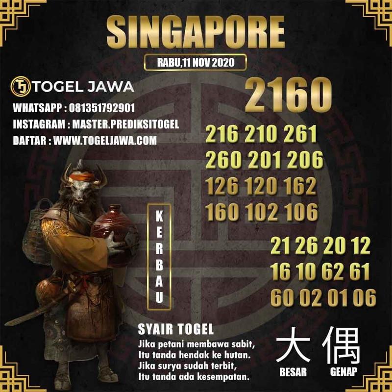 Prediksi Singapore Tanggal 2020-11-11