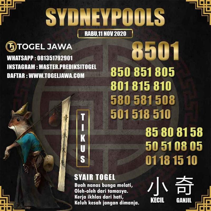 Prediksi Sydney Tanggal 2020-11-11